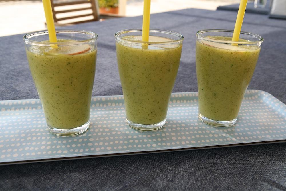 grüner smoothie gurke